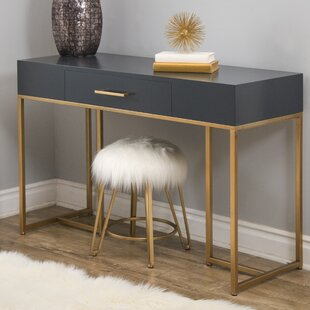 Langdon Solid Wood Writing Desk by Mercer41 Fresh