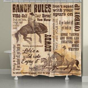 Millwood Pines Stallman Wild Ride Shower Curtain