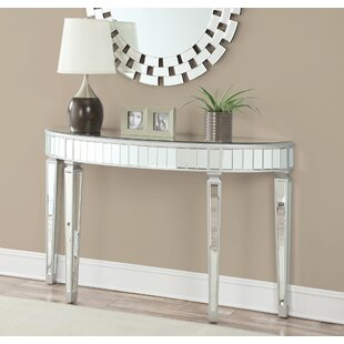 Campagna Hallway Entryway Mirrored Console Table by House of Hampton