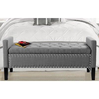 Prime Auberge Storage Bench Darby Home Co Upholstery Dark Gray Dailytribune Chair Design For Home Dailytribuneorg