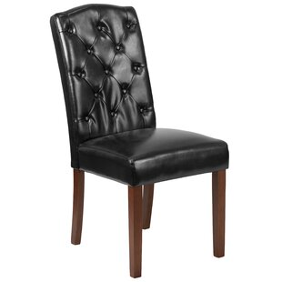 Rotterdam Traditional Upholstered Parsons Chair by Charlton Home