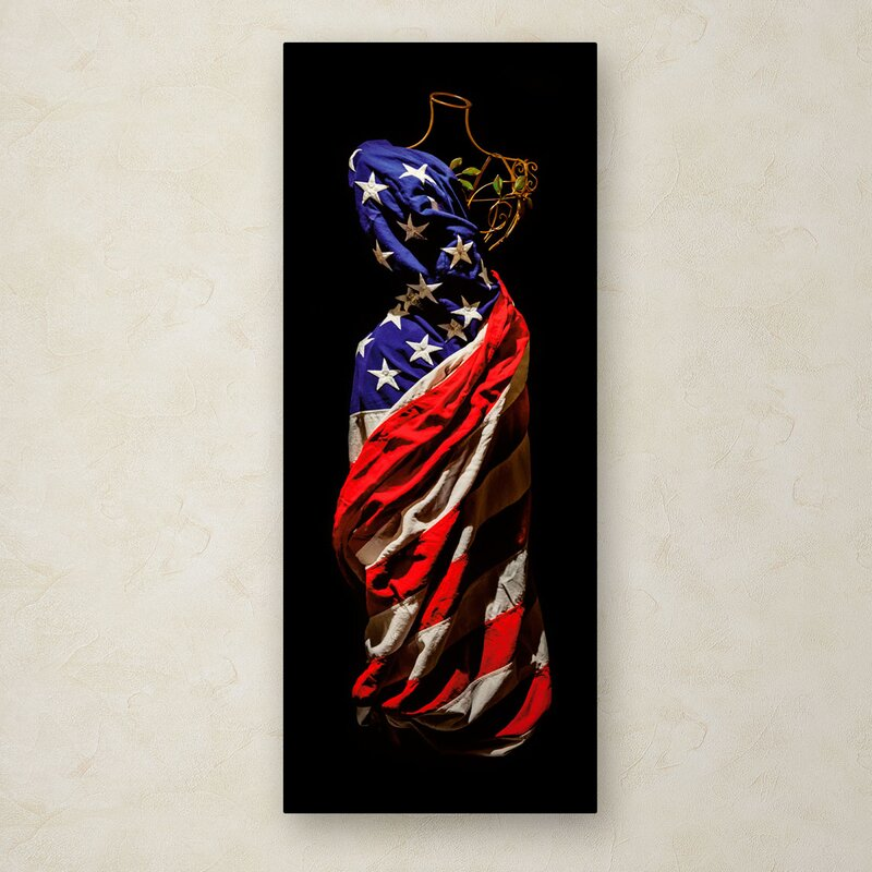 """""""American Dress"""" by Roderick Stevens Painting Print on Wrapped Canvas"""