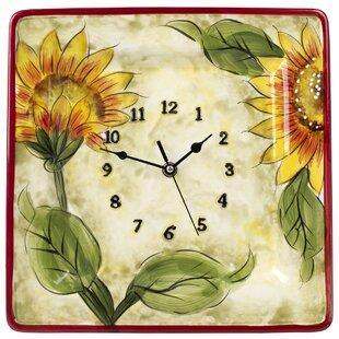 Beau Ceramic Sunflower Décor Wall Clock
