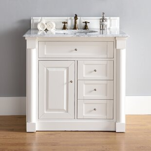 Maurice 36 Single Cottage White Wood Base Bathroom Vanity Set by Alcott Hill