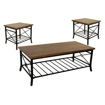 Winston Porter Carolin Creative 3 Piece Coffee Table Set Wayfair