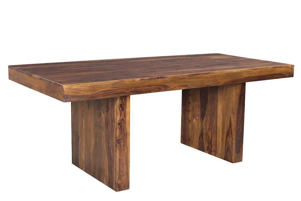 double dining table trestle rectangular pedestal large solid wood