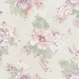 Pink floral wallpaper wayfair save mightylinksfo