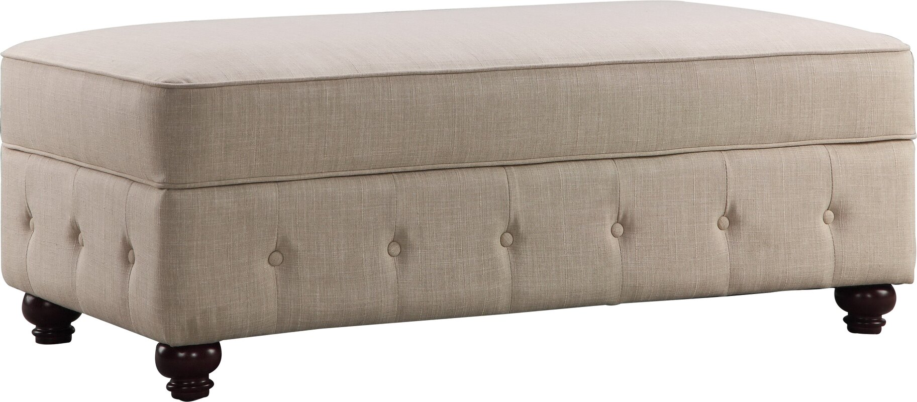 Garcia Fabric Storage Bench