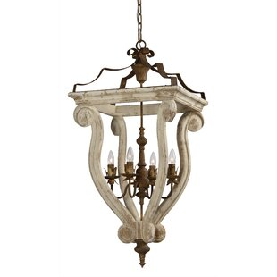 Fargo 4-Light Lantern Chandelier by Ophelia & Co.