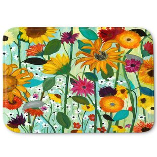 Sunflower Memory Foam Bath Rug