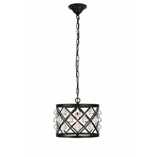 Read Reviews Westbourne 1-Light Drum Pendant By House of Hampton