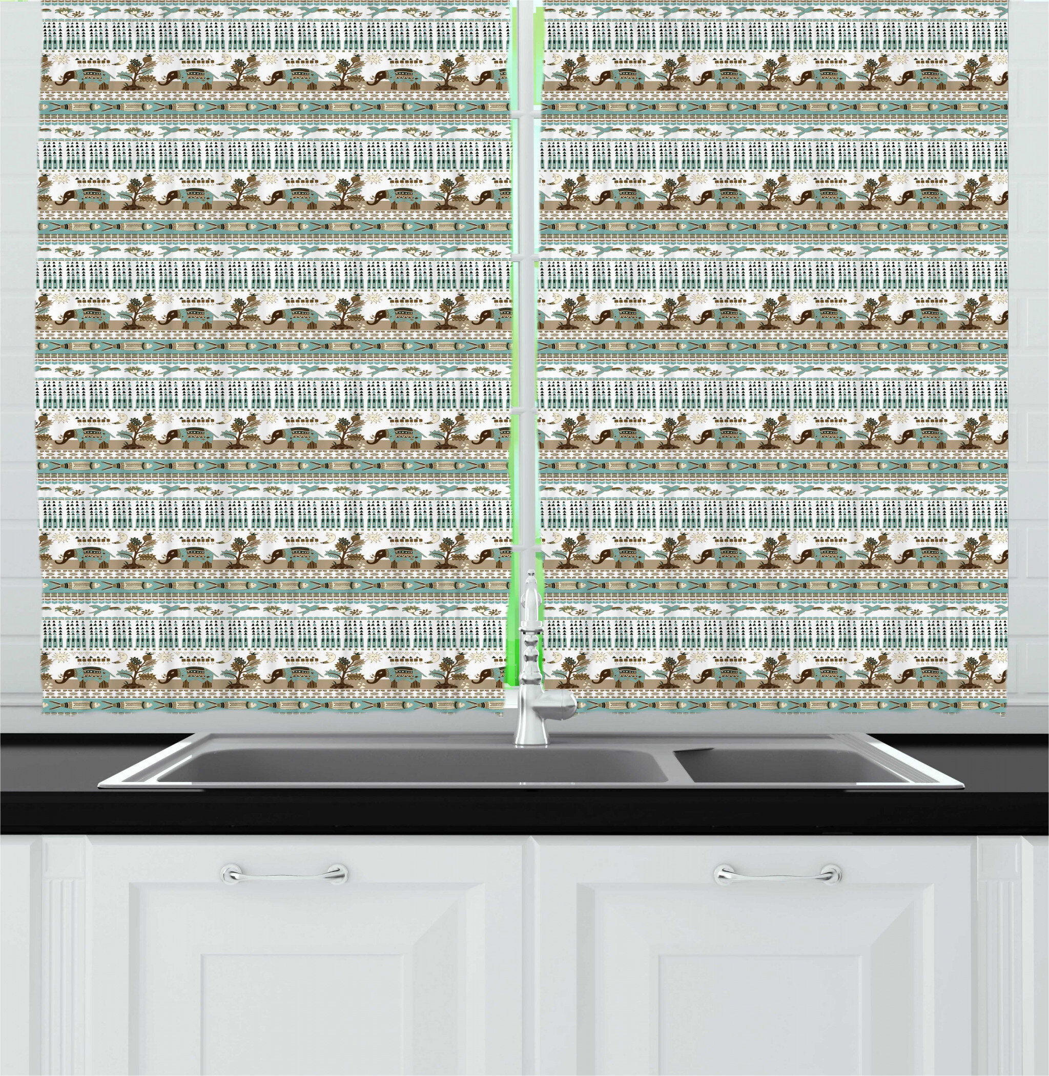Polyester Toile Valances Kitchen Curtains You Ll Love In 2021 Wayfair
