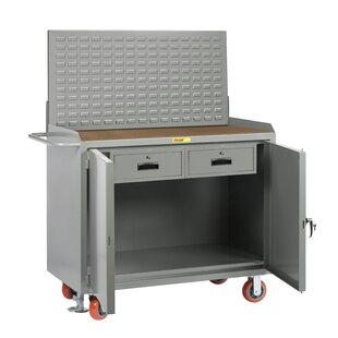 Mobile Service 54W Wood Top Workbench by Little Giant USA