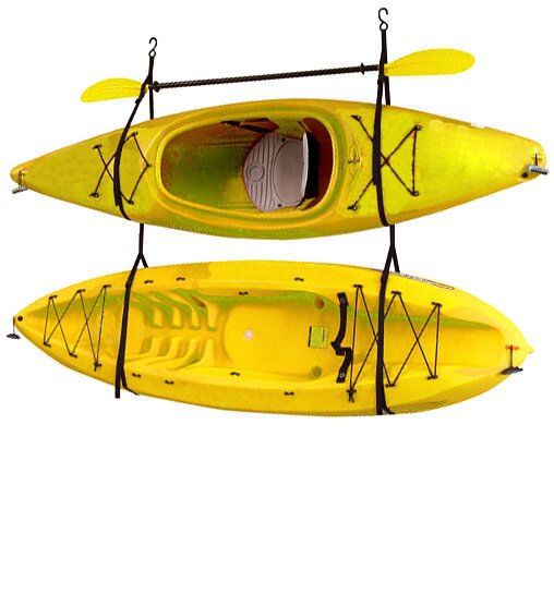 Kayak / Canoe Storage And Portage Hang 2 Deluxe Strap Storage System  Ceiling/Wall Mounted