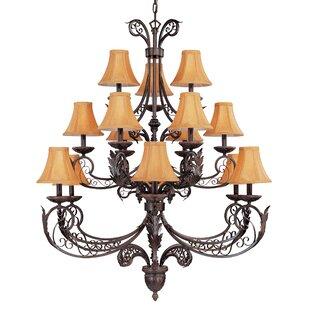 Classic Lighting French Quarter 15-Light Shaded Chandelier