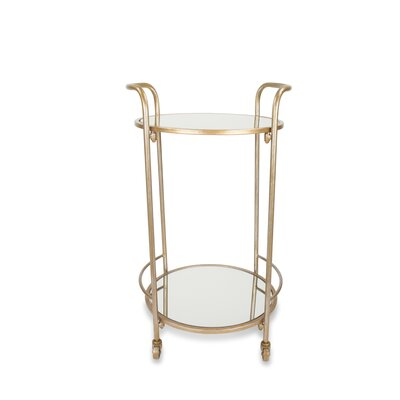 Bryanna Bar Cart Frame Color: Antique Gold by Beachcrest Home