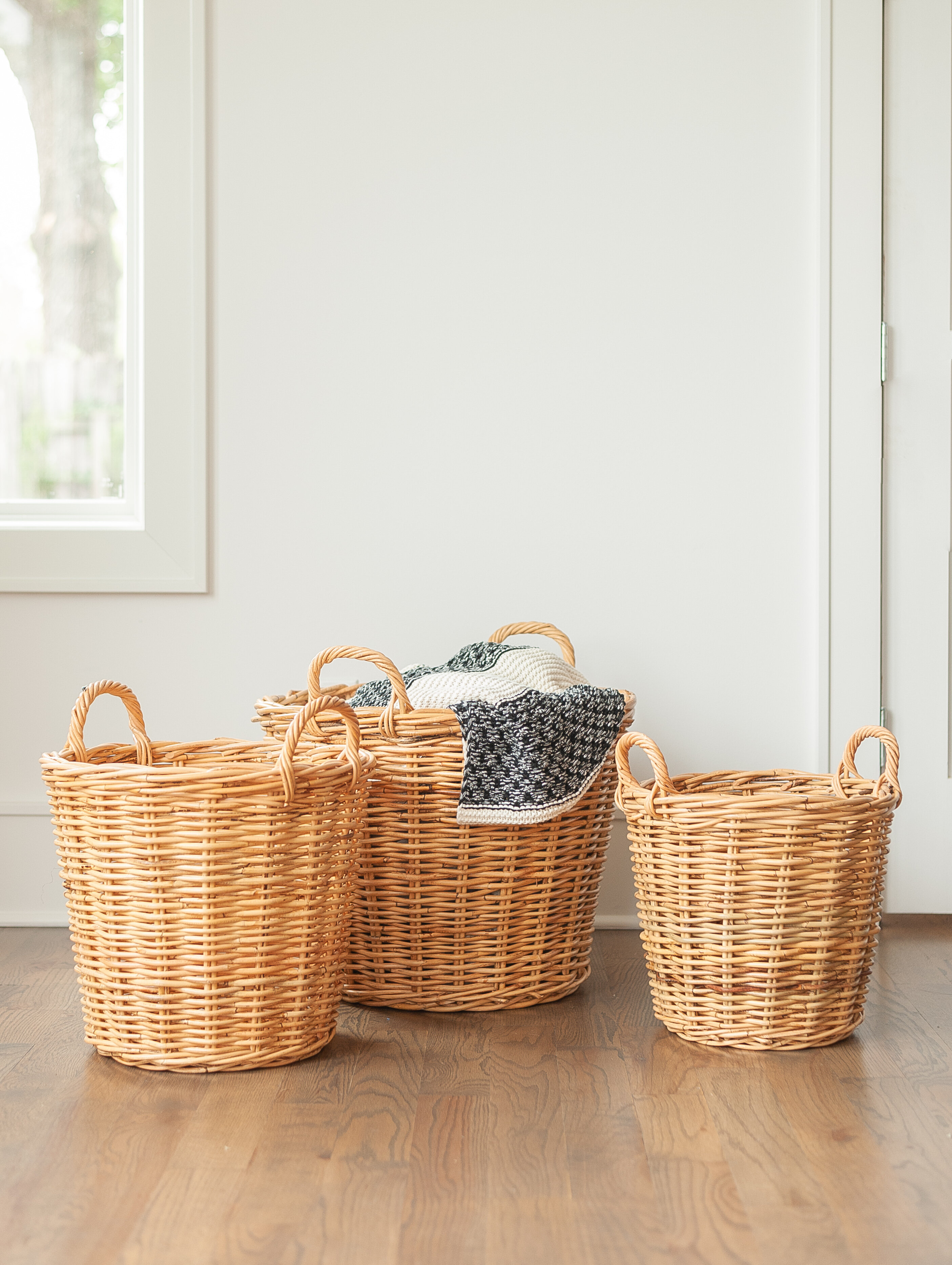 Rosalind Wheeler 3 Piece Wicker Basket Set Wayfair