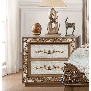 Linzy 2 Drawers Nightstand by Rosdorf Park