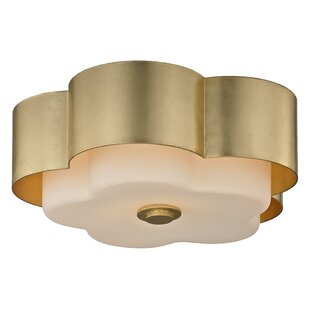 Red Barrel Studio Brynie 2-Light Metal Flush Mount