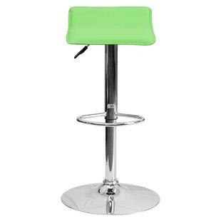 Zipcode Design Claudine Adjustable Height Swivel Bar Stool (Set of 2)