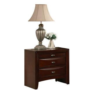 Card Wooden 3 Drawer Nightstand