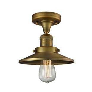Manners 1-Light Semi Flush Mount by Breakwater Bay