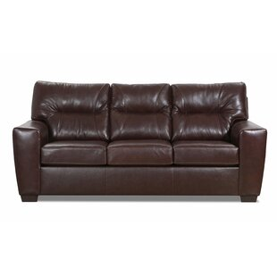 Shop Ogden Leather Sofa by Williston Forge