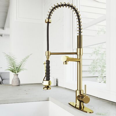 Find The Perfect Gold Kitchen Faucets Wayfair