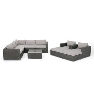 Cabral 10 Piece Sectional Set with Cushions by Sol 72 Outdoor