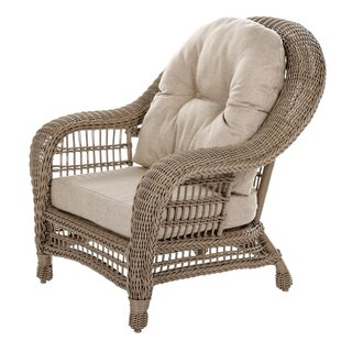 Ophélie Outdoor Garden Cappuccino Patio Chair With Cushions by One Allium Way Best #1