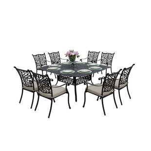 Belton 9 Piece Dining Set With Cushions by Fleur De Lis Living Herry Up