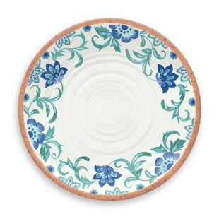 Lizabeta Floral Melamine Dinner Plate (Set of 6)
