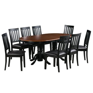 Sam 9 Piece Extendable Solid Wood Dining Set Alcott Hill