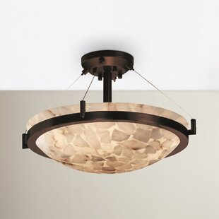 Rosecliff Heights Conovan 3-Light Semi Flush Mount