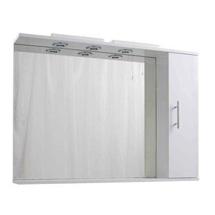 Menik 105cm X 79cm Surface Mount Mirror Cabinet With LED Lighting By Belfry Bathroom