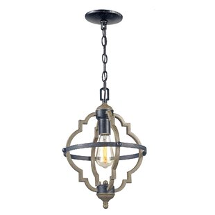 Gracie Oaks Sheets 1-Light Lantern Pendant