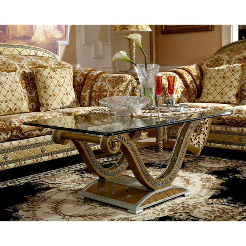 Infinityfurnitureimport Zeus Gold Rectangular Coffee Table Wayfair