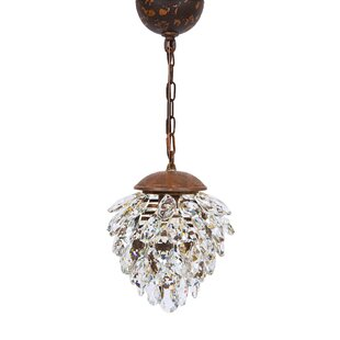 Blossom 1-Light Crystal Pendant by Manor Luxe