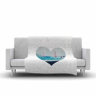 Best San Francisco Love Coastal Fleece Blanket ByEast Urban Home
