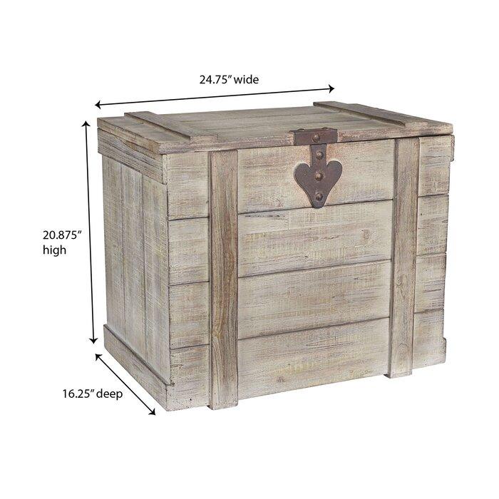 August Grove Blakeney Wooden Home Chest Reviews Wayfair Ca