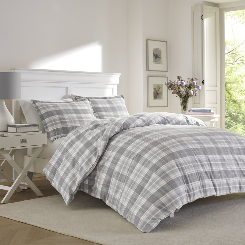 Mulholland Plaid Flannel Duvet Set By Laura Ashley Home Reviews - Laura ashley bedroom