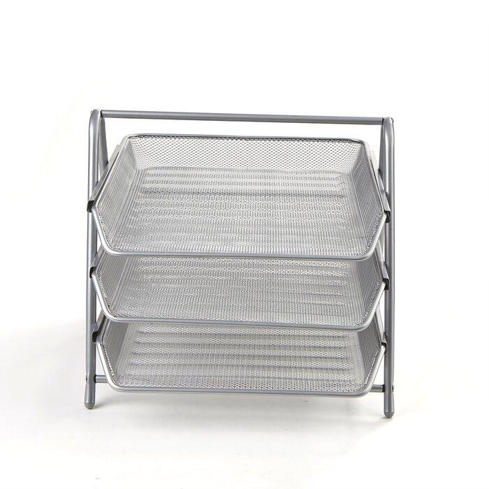 3973b4e89 Mind Reader 3 Tier Steel Mesh Paper Tray Desk Organizer & Reviews |  Wayfair.ca