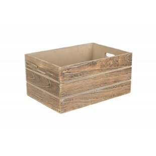 Extra Large Oak Effect Wooden Storage Organiser Box By Beachcrest Home