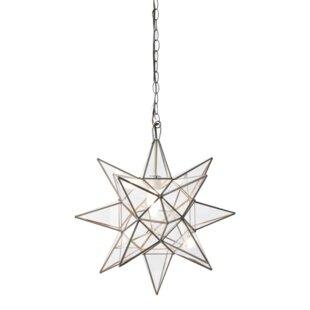 Worlds Away Star 1-Light Geometric Pendant