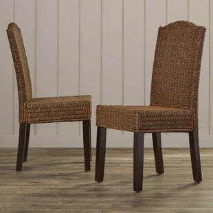 Olympus Solid Wood Dining Chair (Set of 2) Beachcrest Home