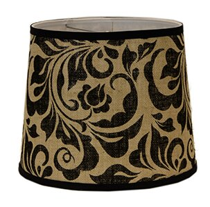Leafy Scroll 10 Burlap Linen Drum Lamp Shade