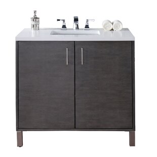 Cordie 36 Single Silver Oak Birch Base Bathroom Vanity Set by Orren Ellis