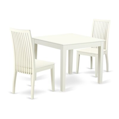 Cobleskill 3 Piece Breakfast Nook Solid Wood Dining Set Alcott Hill Color: Linen White