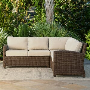 Superb Kiana Wicker Sectional With Cushions