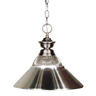 Whitford 1-Light Cone Pendant by Winston Porter